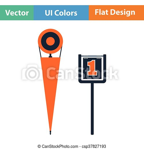 American football sideline markers icon - csp37827193