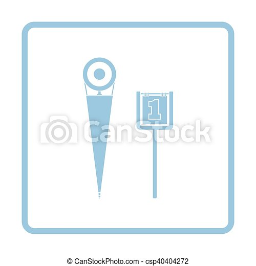 American football sideline markers icon - csp40404272