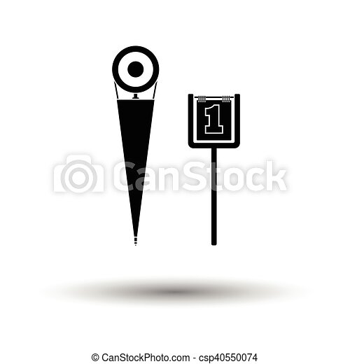 American football sideline markers icon - csp40550074