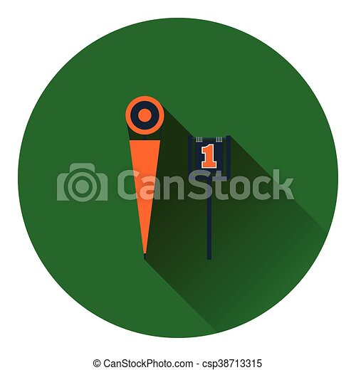 American football sideline markers icon - csp38713315