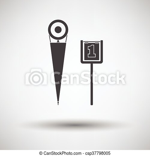 American football sideline markers icon - csp37798005