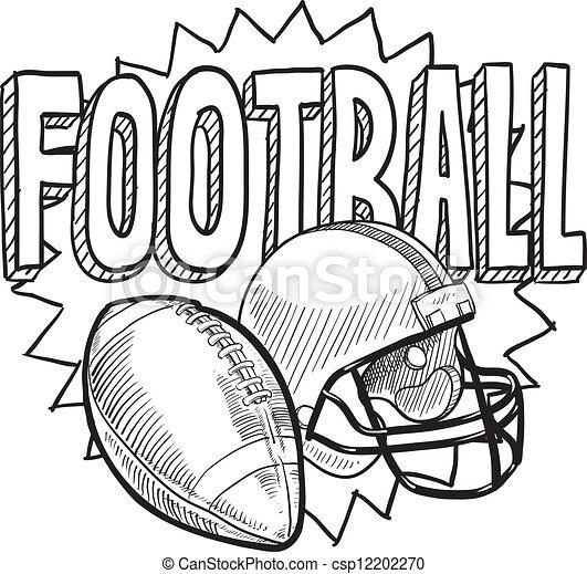 American football sketch - csp12202270