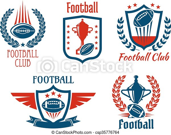 American Football Sport Symbols And Icons American Football Sport