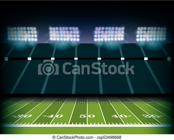 american football stadium and field background illustration an american football field and stadium background illustration https www canstockphoto com american football stadium and field 53498668 html