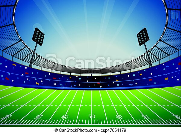American Football Stadium Arena - csp47654179