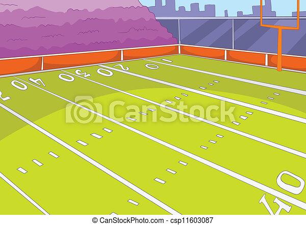 american football stadium cartoon background vector illustration rh canstockphoto com cartoon football field images Cartoon American Football Field