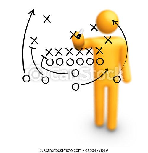 American football Strategy - csp8477849
