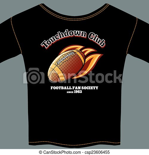 American football t-shirt template - csp23606455