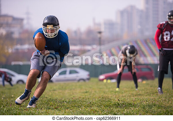 american football team in action - csp62366911