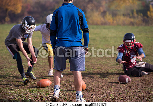 american football team in action - csp62367676