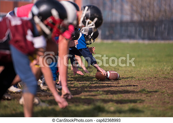american football team in action - csp62368993