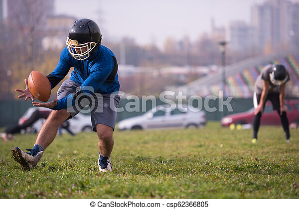 american football team in action - csp62366805