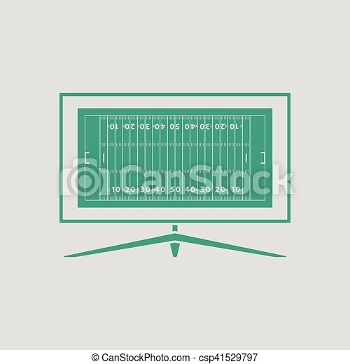 American football tv icon - csp41529797
