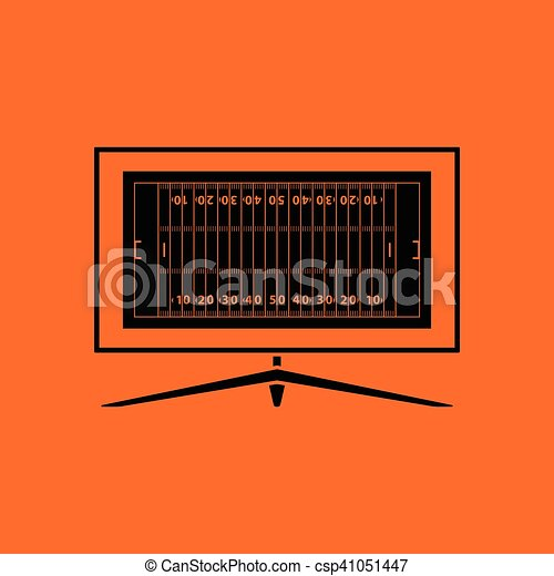 American football tv icon - csp41051447