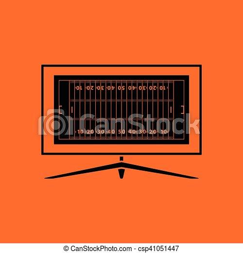 American football tv icon - csp41051447
