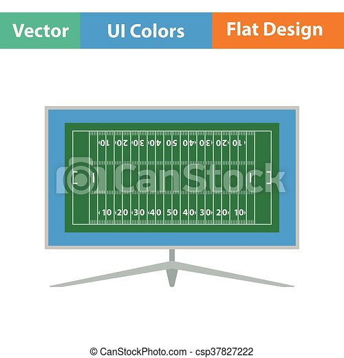 American football tv icon - csp37827222