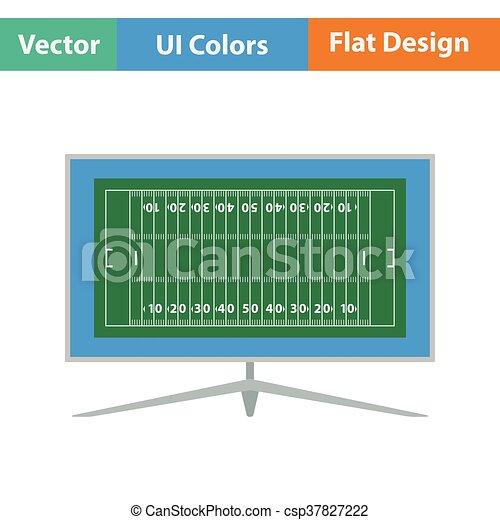 American football tv icon - csp37827222