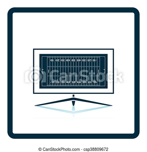 American football tv icon - csp38809672
