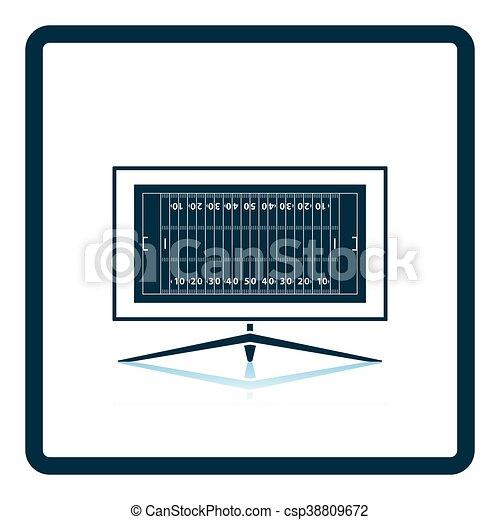 American football tv icon - csp38809672