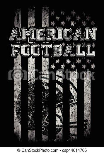 American football Varsity t shirt graphics vector graphics and typography t-shirt design - csp44614705