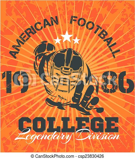 American Football - vector illustration for t-shirt - csp23830426