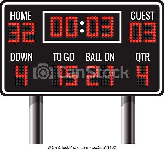 American football vector scoreboard - csp35511162