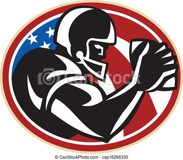 American Football Wide Receiver Ball - csp16266330