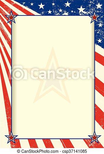 American frame poster - csp37141085
