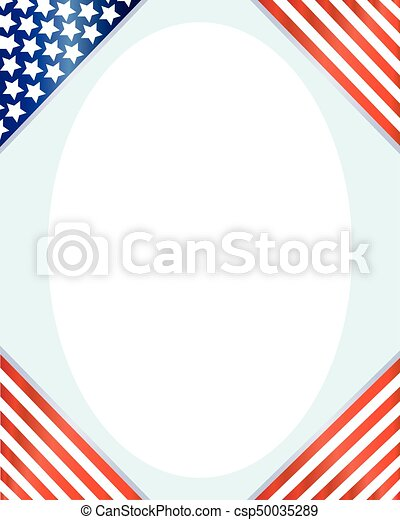 American frame with the flag corners - csp50035289