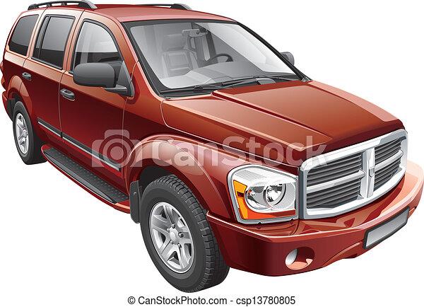 American full-size SUV - csp13780805