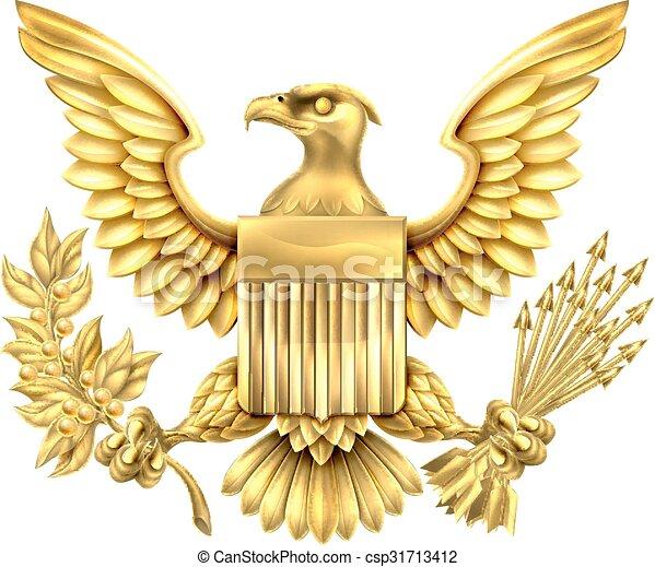 American Gold Eagle Seal - csp31713412