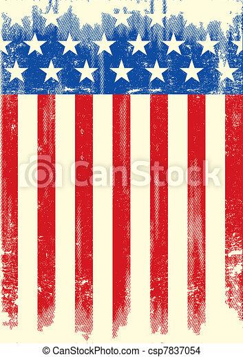 American grunge flag - csp7837054