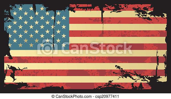 American grunge flag. Vector illustration. - csp20977411