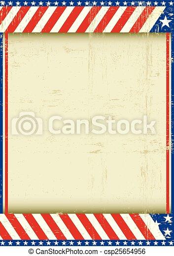 American grunge frame - csp25654956
