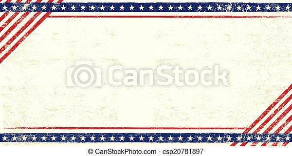 American grunge postcard - csp20781897