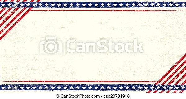 American grunge postcard - csp20781918