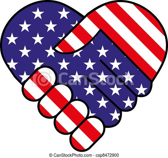 American hand shake - csp8472900