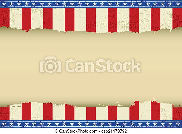 American horizontal background - csp21473792