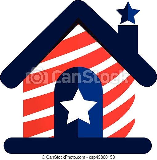American house logo - csp43860153