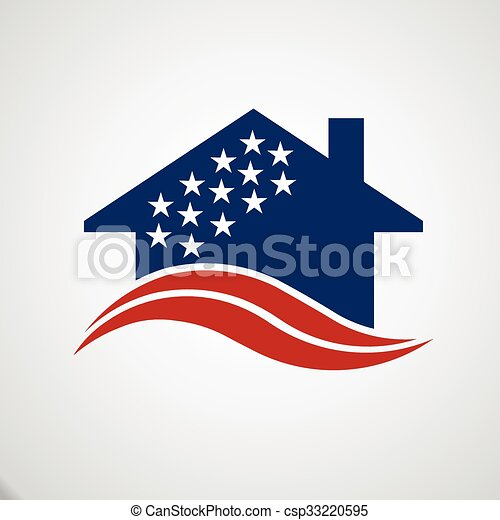 American house logo - csp33220595