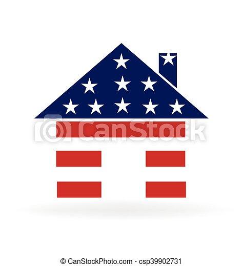 American house logo - csp39902731