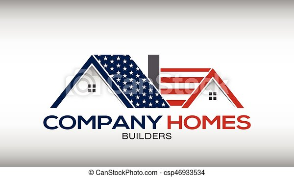 American Houses Logo Business Card - csp46933534