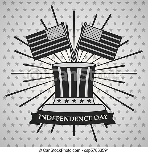 american independence day - csp57863591