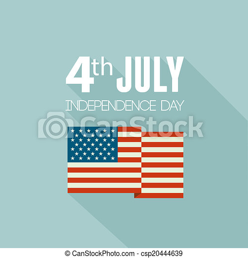 american independence day patriotic background flat design