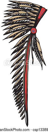 American Indian Chief Headdress - csp13389377