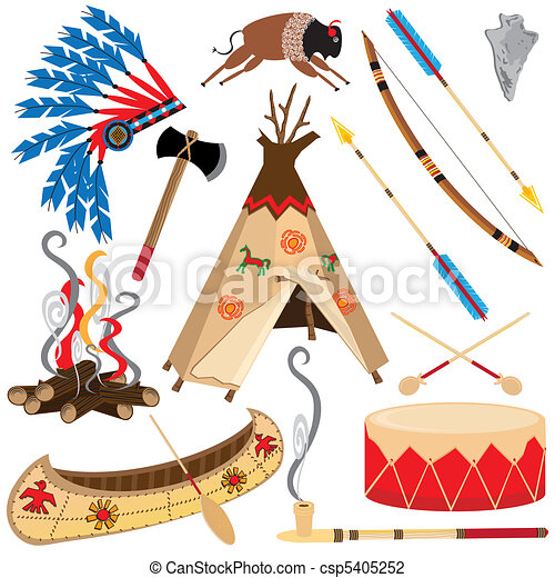 American Indian Clipart Icons - csp5405252