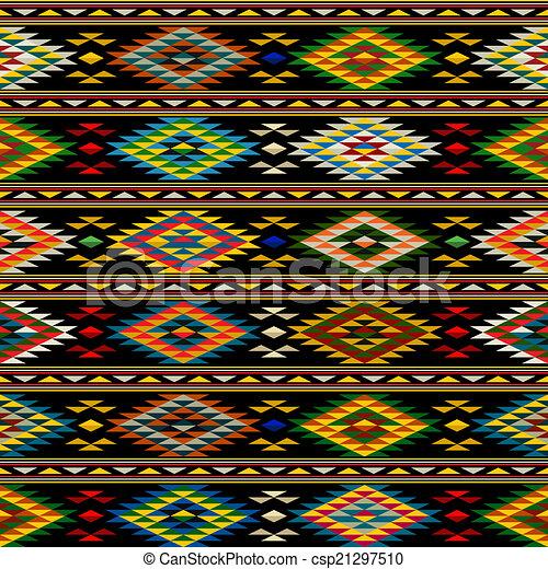 American Indian seamless pattern - csp21297510