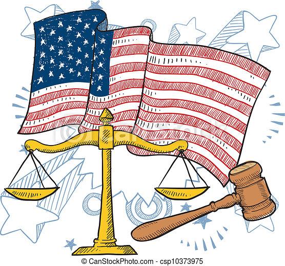 American justice vector - csp10373975