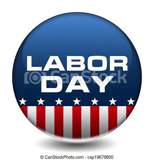 American Labor Day Badge - csp19679800
