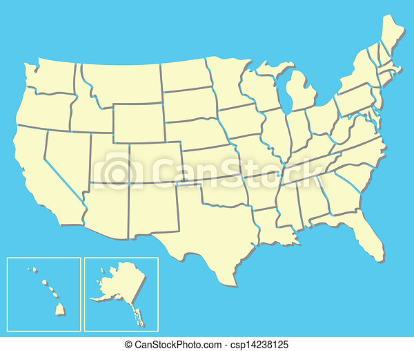 American Map Vector.American Map Vector Map Of The United States Of America